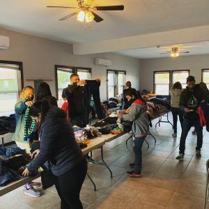 winter clothing drive for Refugee Ministry